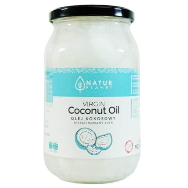 olej kokosowy nierafinowany zimnotłoczony 900ml