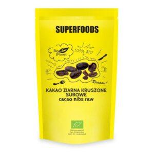 Kakao Ziarna Kruszone Surowe Suszone BIO 250g Bio Planet