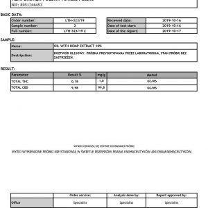 Olejek CBD Konopny 10% Hempbroker 10ml Certyfikowany Krople Konopne Właściwości Oleju Konopnego Działanie Krople konopne