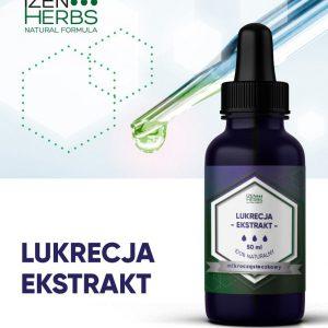 Ekstrakt z Lukrecji Wyciąg z Korzenia 50ml IZen Herbs Odporność Koronawirus Gliceryzyna