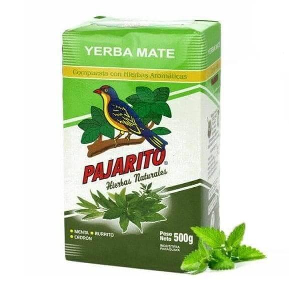 Yerba Mate Pajarito Menta Burrito Cedron 500g Ostrokrzew Paragwajski Compuesa Hierbas