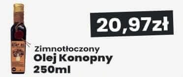 Olej Konopny Zimnotłoczony 250ml Hempbroker