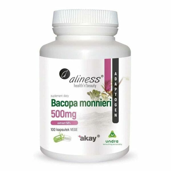 Bacopa monnieri extract 50% 100 Vege Caps Aliness