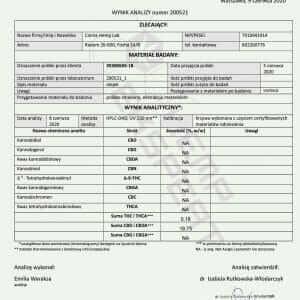 Olejek CBD Konopny 18% CBD+CBDA 10ml Full Spectrum Certyfikowany