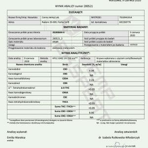 Olejek CBD Konopny 6% CBD+CBDA 10ml Full Spectrum Certyfikowany