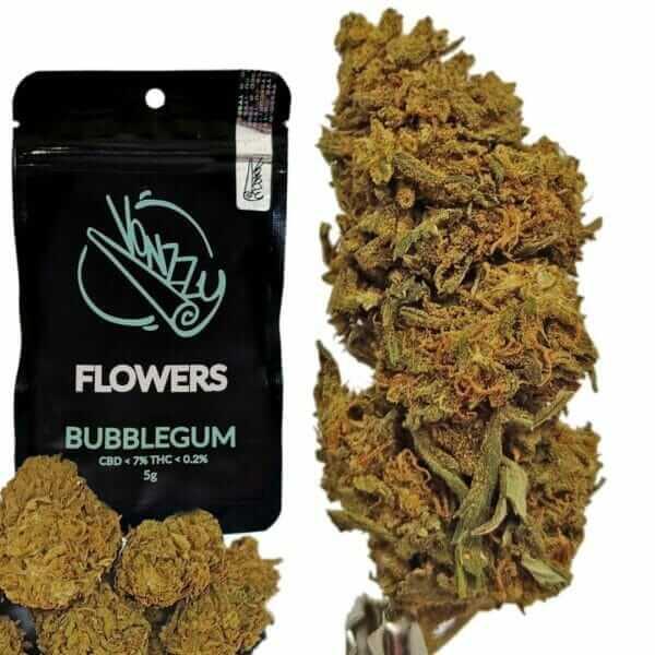 Susz CBD Konopny 7% Kwiaty Bubblegum 5g VONZZY
