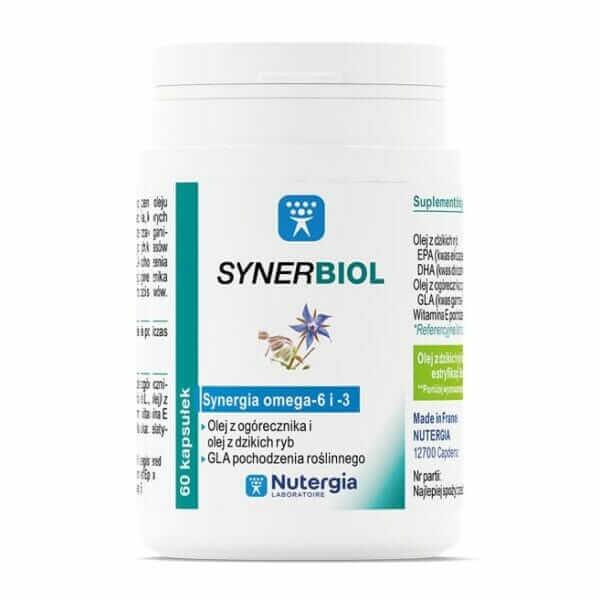 SYNERBIOL Nutergia 60 kaps Omega-3 Omega-6 DHA