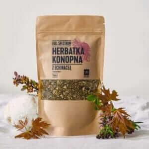 Herbata Konopna CBD z Echinaceą Susz Konopi 50g Full Spectrum