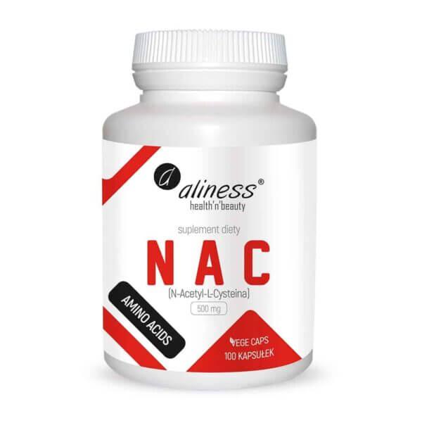 NAC Aliness N-Acetylocysteina L-CYSTEINA 500mg 100 kapsułek Glutation
